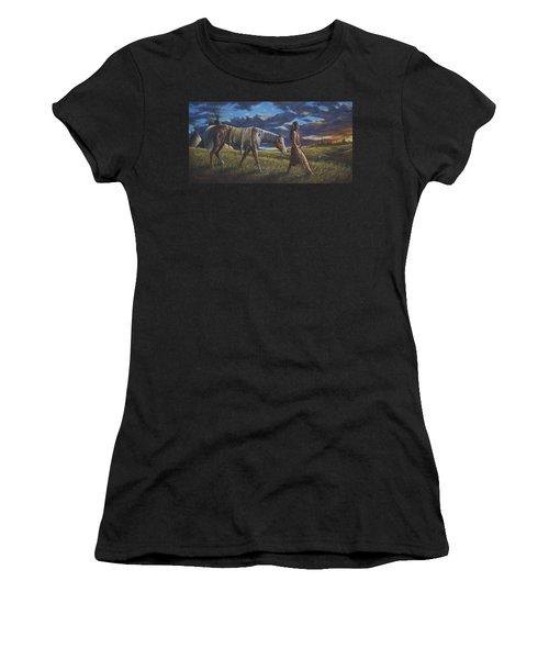 Lakota Sunrise Women's T-Shirt (Athletic Fit)