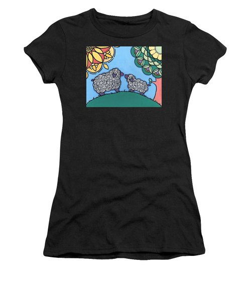 Lamb And Mama Sheep Women's T-Shirt