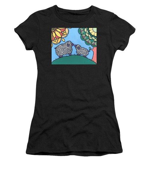 Lamb And Mama Sheep Women's T-Shirt