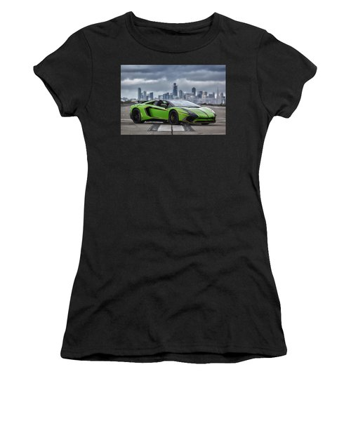 Women's T-Shirt featuring the photograph #lamborghini #aventadorsv #superveloce #roadster #print by ItzKirb Photography