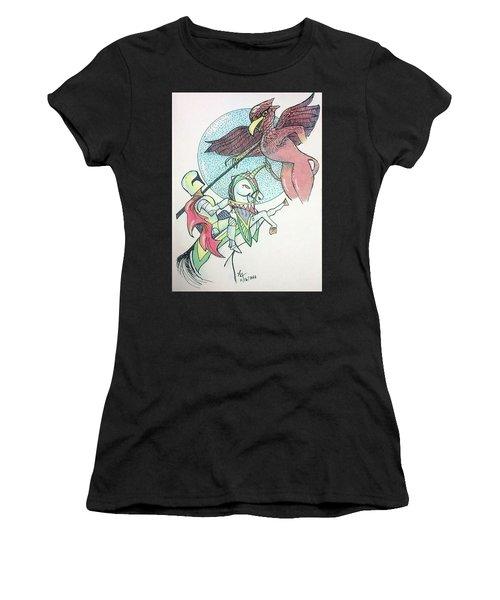 Lancelot And Griffin  Women's T-Shirt