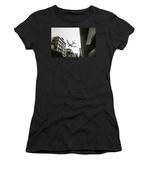 Landing In Hong Kong Women's T-Shirt (Athletic Fit)