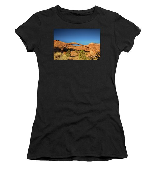Landscape Arch Sunrise Women's T-Shirt (Athletic Fit)