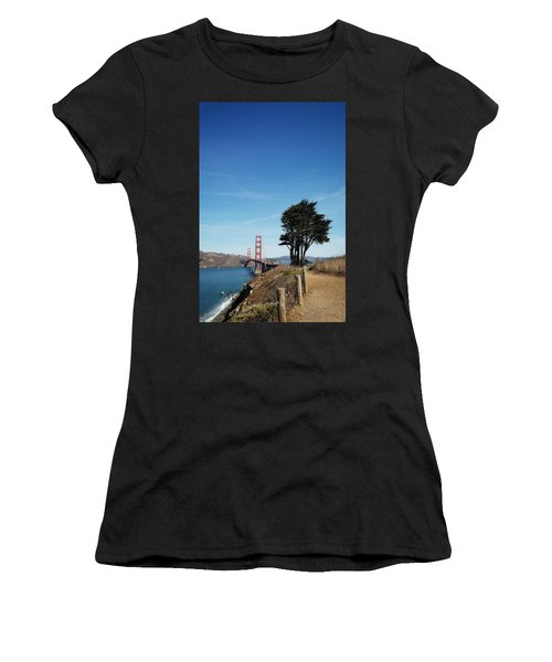 Landscape With Golden Gate Bridge Women's T-Shirt (Athletic Fit)