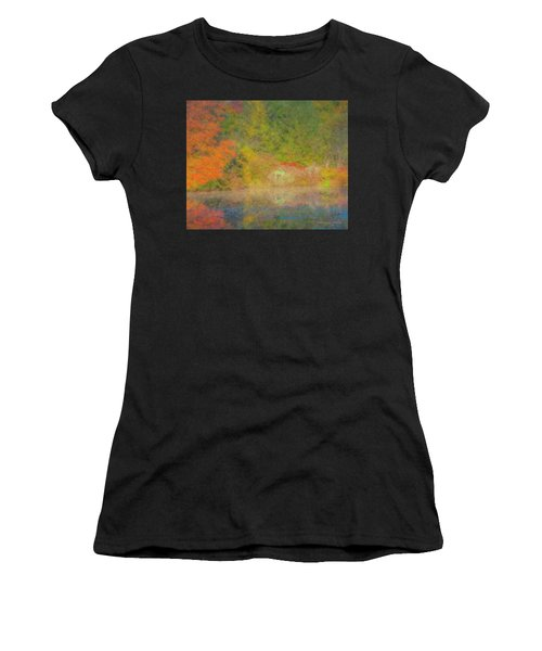 Langwater Pond Boathouse October 2015 Women's T-Shirt (Athletic Fit)