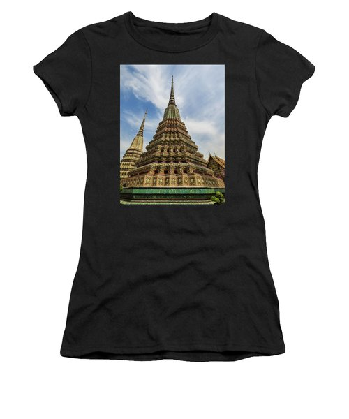 Large Colorful Stupa At Wat Pho Women's T-Shirt (Athletic Fit)