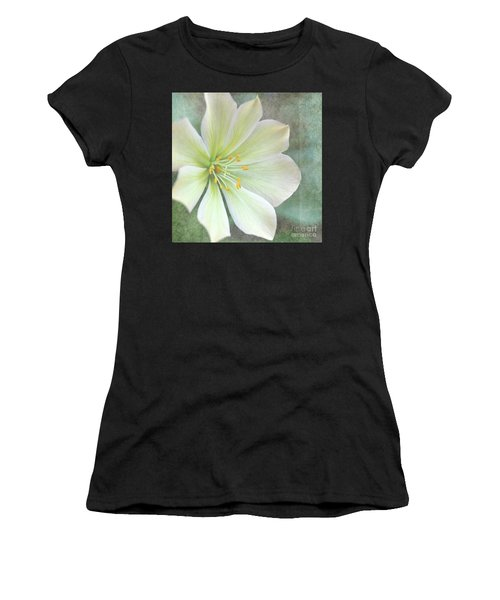 Large Flower Women's T-Shirt (Athletic Fit)