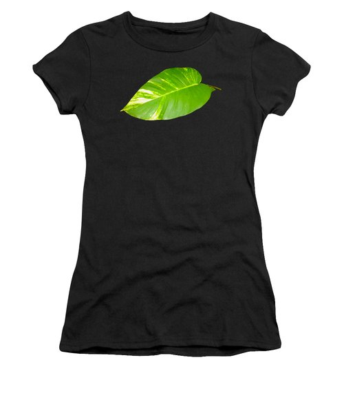 Women's T-Shirt (Athletic Fit) featuring the digital art Large Leaf Art by Francesca Mackenney