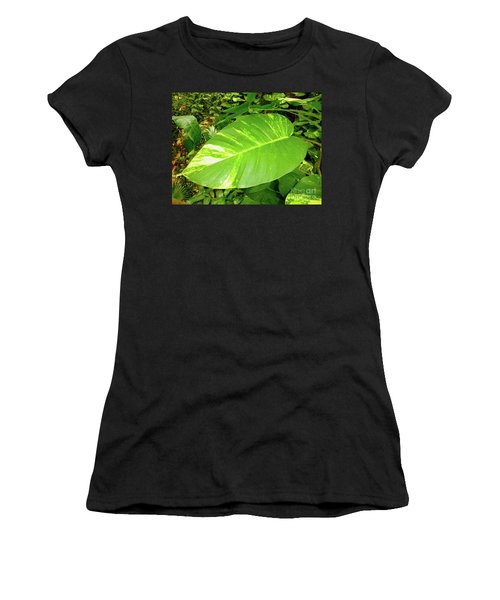 Women's T-Shirt (Athletic Fit) featuring the photograph Large Leaf by Francesca Mackenney