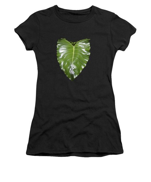 Large Leaf Transparency Women's T-Shirt (Athletic Fit)