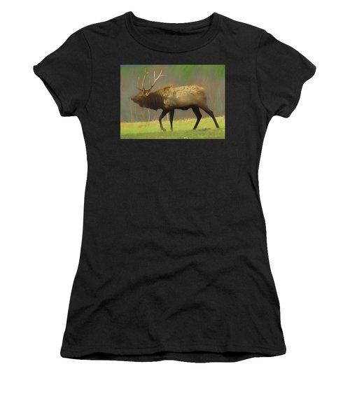 Large Pennsylvania Bull Elk. Women's T-Shirt (Athletic Fit)