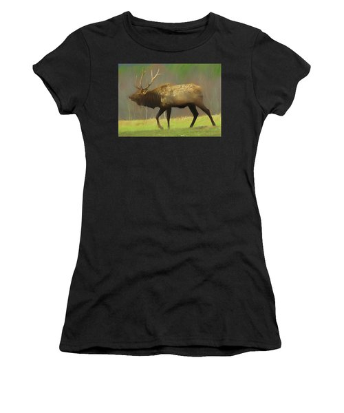 Large Pennsylvania Bull Elk. Women's T-Shirt