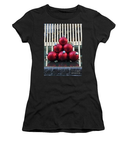 Large Red Ornaments Women's T-Shirt