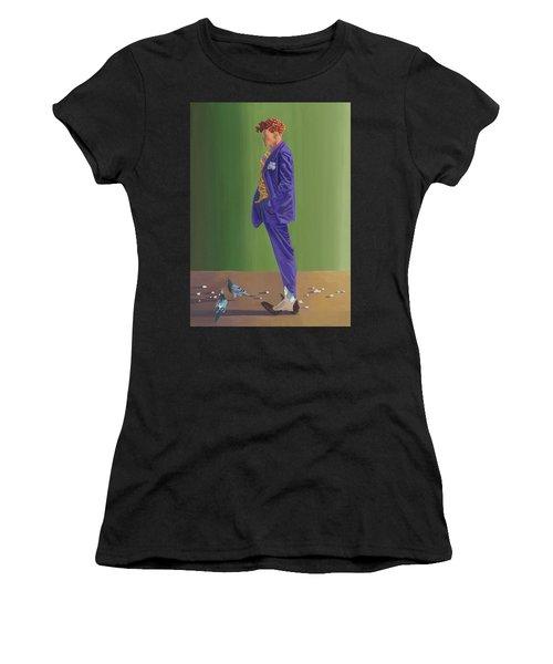 Larry Lightshoes Women's T-Shirt (Athletic Fit)