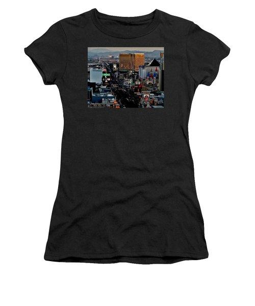 Las Vegas Strip Women's T-Shirt (Athletic Fit)