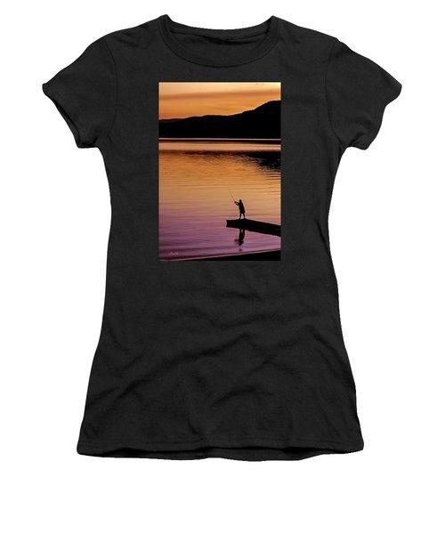 Last Cast Women's T-Shirt (Athletic Fit)
