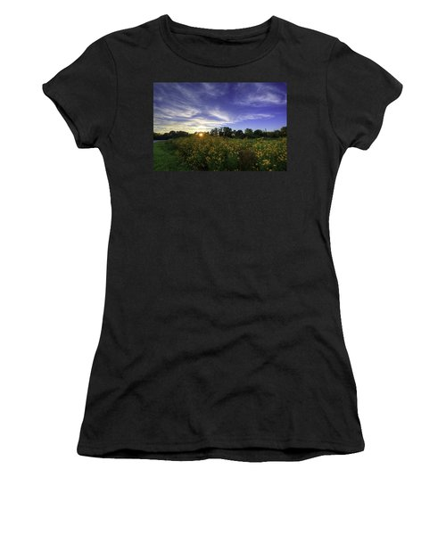 Last Rays Over The Flowers Women's T-Shirt