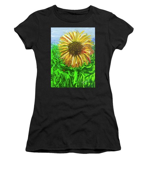 Last Sunflower Women's T-Shirt (Athletic Fit)