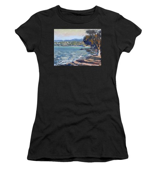 Late Afternoon At Dilesi Beach Athens Women's T-Shirt