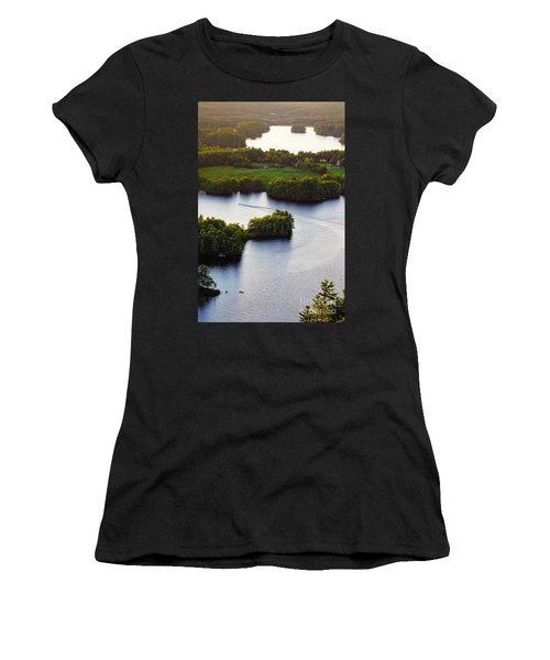 Late Afternoon On Lake Megunticook, Camden, Maine -43988 Women's T-Shirt