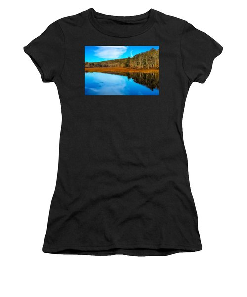 Late Fall At A Connecticut Marsh. Women's T-Shirt