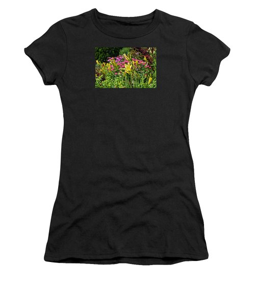 Late July Garden 1 Women's T-Shirt (Junior Cut) by Janis Nussbaum Senungetuk
