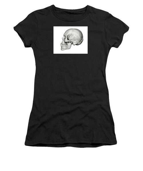 Lateral View Of Human Skull Women's T-Shirt