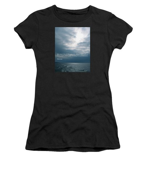 Launch Yourself On Every Wave Women's T-Shirt (Athletic Fit)