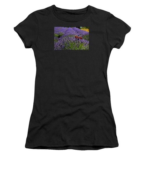 Lavender Bounty 2 Women's T-Shirt (Athletic Fit)