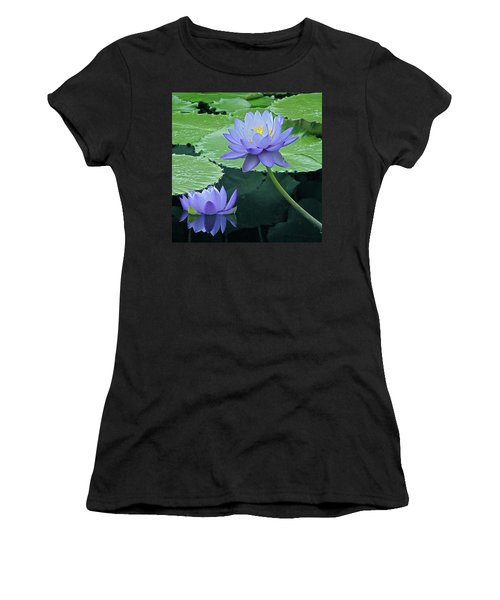 Women's T-Shirt (Junior Cut) featuring the photograph Lavender Enchantment by Byron Varvarigos
