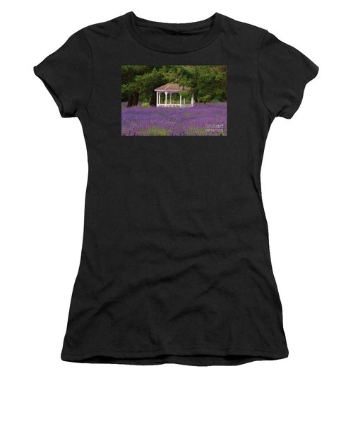 Lavender Gazebo Women's T-Shirt (Athletic Fit)