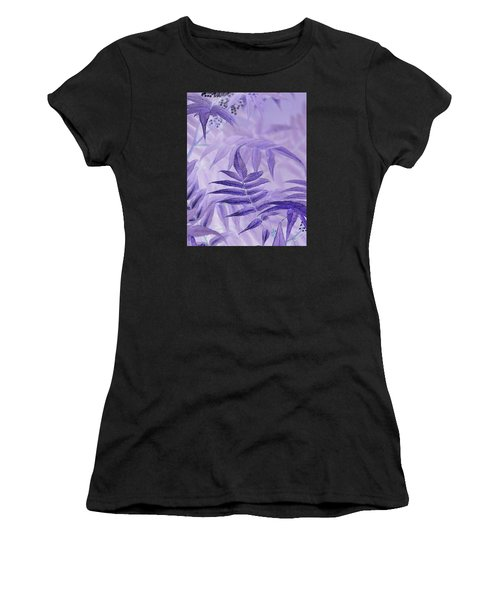 Lavender Leaves  Women's T-Shirt (Athletic Fit)