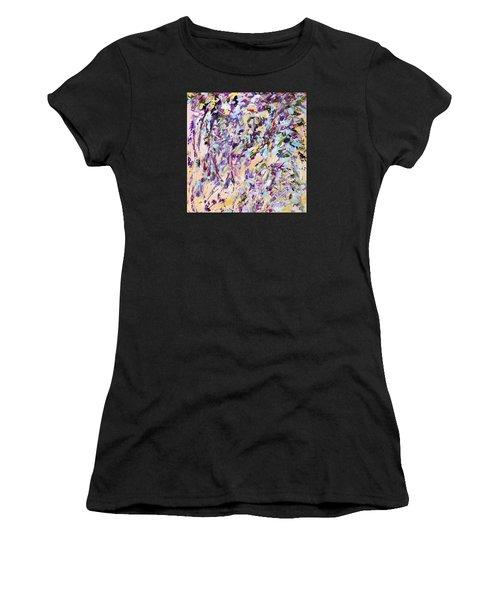 Lavender Rain Women's T-Shirt (Athletic Fit)
