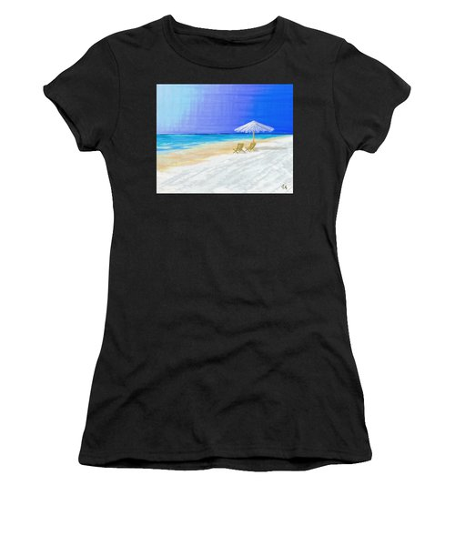 Lawn Chairs In Paradise Women's T-Shirt (Athletic Fit)