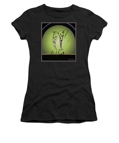 Le Chat - Green And Gold Women's T-Shirt