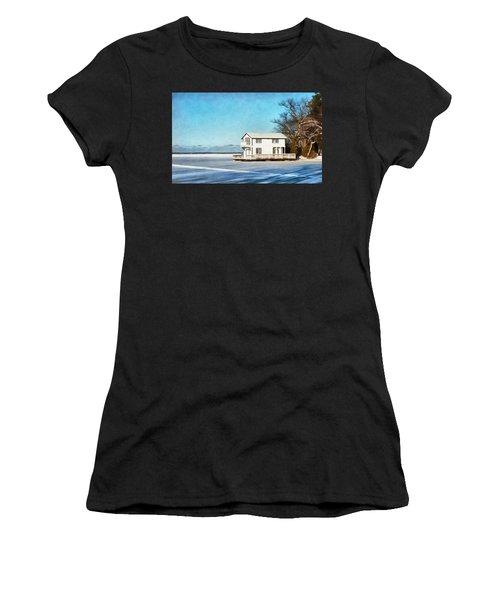 Leacock Boathouse In Winter Women's T-Shirt