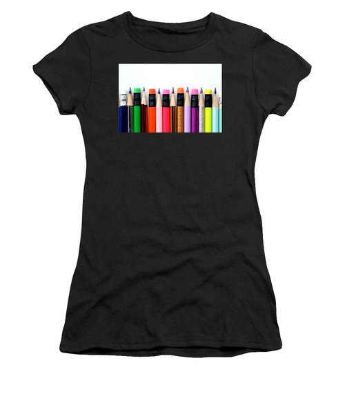 Leads And Erasers Women's T-Shirt (Athletic Fit)