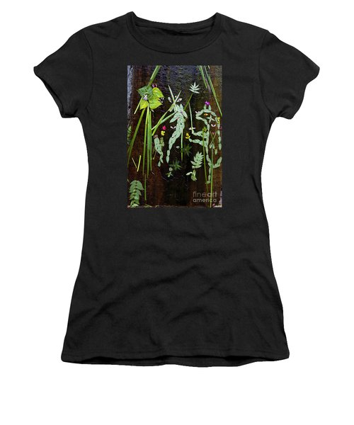 Leaf Art Women's T-Shirt (Athletic Fit)