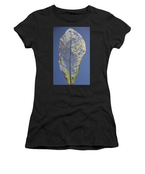 Women's T-Shirt featuring the photograph Leaf by Debbie Cundy