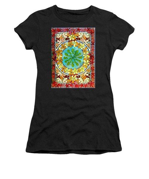 Leaf Motif 1901 Women's T-Shirt (Athletic Fit)