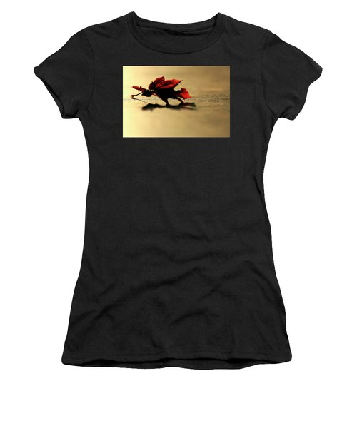 Leaf On The Garage Floor Women's T-Shirt