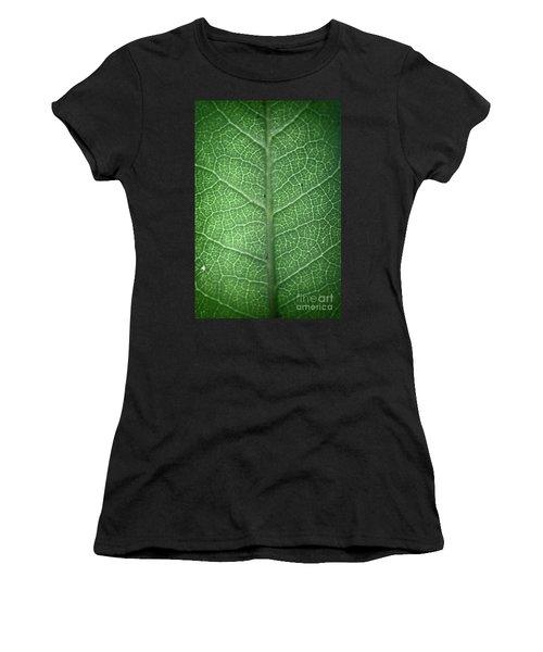 Leaf Vein Women's T-Shirt (Athletic Fit)