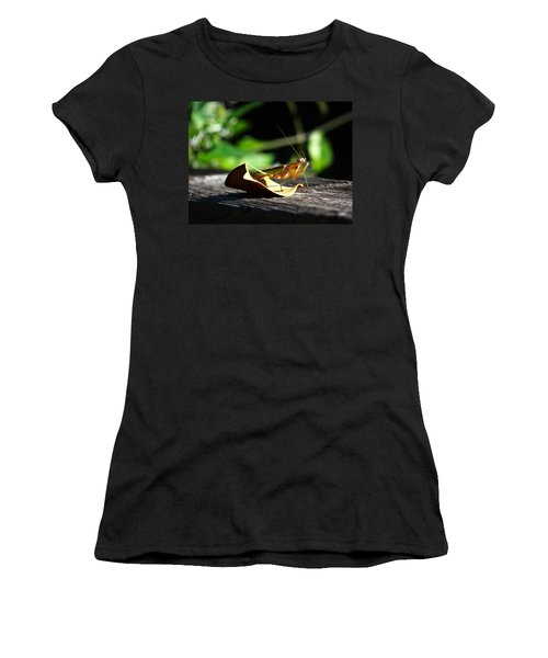 Leafy Praying Mantis Women's T-Shirt (Athletic Fit)