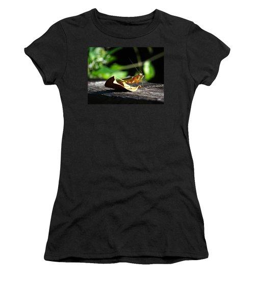 Leafy Praying Mantis Women's T-Shirt