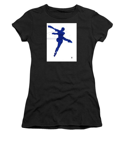 Leap Brush Blue 1 Women's T-Shirt (Athletic Fit)