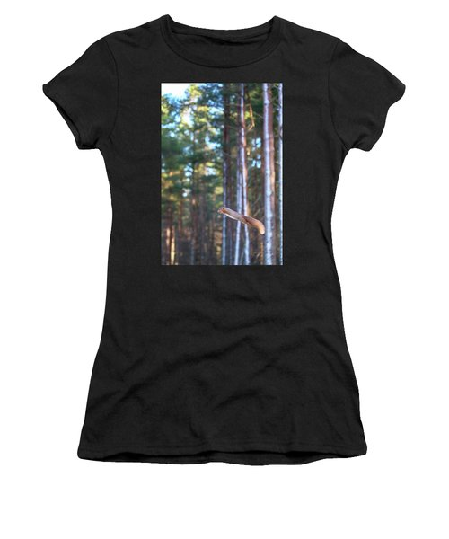 Leaping Red Squirrel Tall Women's T-Shirt