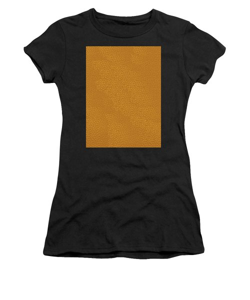Women's T-Shirt (Athletic Fit) featuring the painting Leather Texture Background Graphics Christmas Holidays Festivals Birthday Mom Dad Sister Brother Fun by Navin Joshi