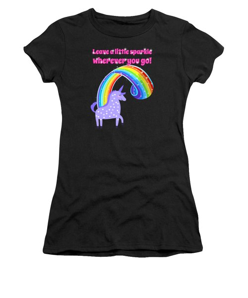 Leave A Little Sparkle Wherever You Go Women's T-Shirt (Athletic Fit)