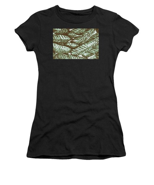 Leaves No. 3-1 Women's T-Shirt (Athletic Fit)