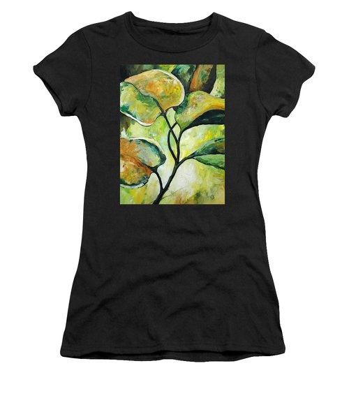 Leaves2 Women's T-Shirt (Athletic Fit)